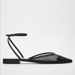 Zara flat mesh sandals Nwt 7.5 euro 38